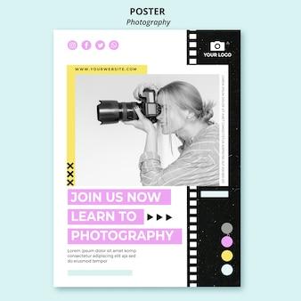 Creatieve fotografie flyer-sjabloon