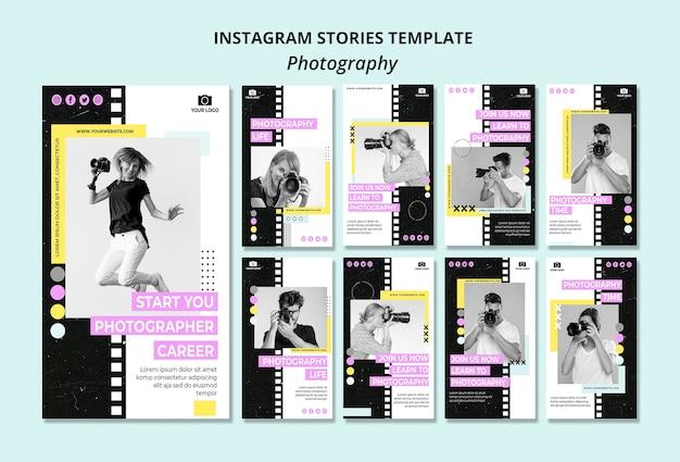 Creatieve fotografie instagram verhalen sjabloon