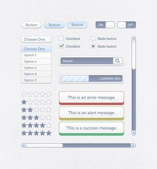 Creatieve gebruiker interfacer met blauwe knoppen