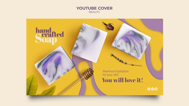 Creatieve handgemaakte zeep youtube-hoes