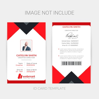Creatieve identiteitskaart sjabloon