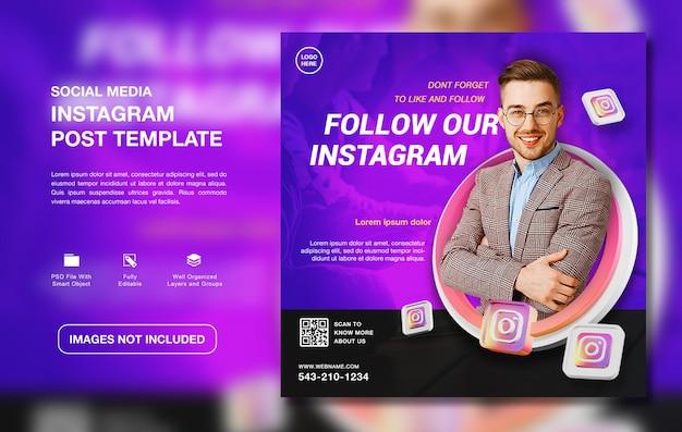 Creatieve instagram promotie postsjabloon