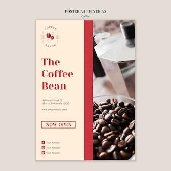 Creatieve koffie winkel folder sjabloon