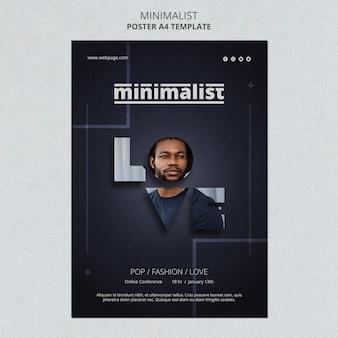 Creatieve minimalistische flyer-sjabloon
