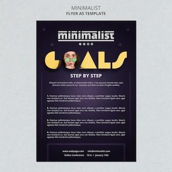 Creatieve minimalistische poster sjabloon