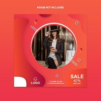 Creatieve mode verkoop post sjabloon