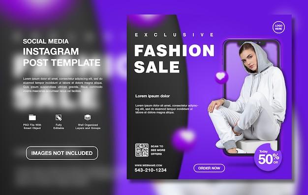 Creatieve mode verkoop promotie instagram postsjabloon post