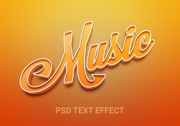 Creatieve muziek bewerkbare teksteffecten