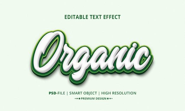 Creatieve organische 3d-bewerkbare teksteffectenstijl