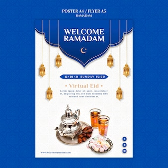Creatieve ramadan afdruksjabloon