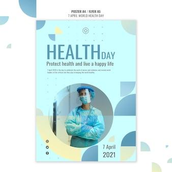 Creatieve wereldgezondheidsdag poster sjabloon met foto