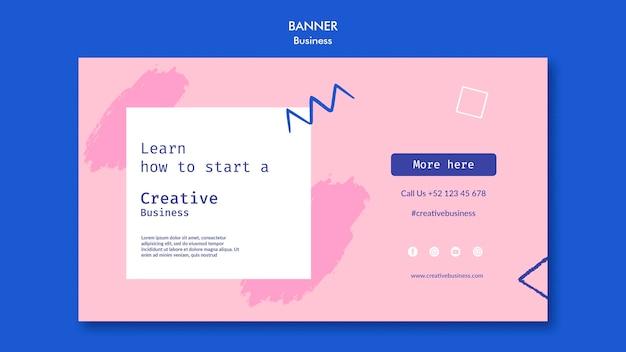 Creatieve zakelijke horizontale banner