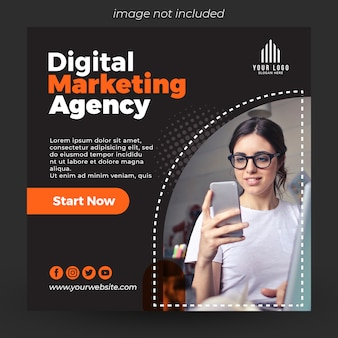 Creatieve zakelijke social media banner