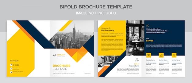 Creatieve zakelijke tweevoudige brochure