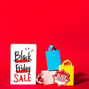 Creatieve zwarte vrijdag mockup