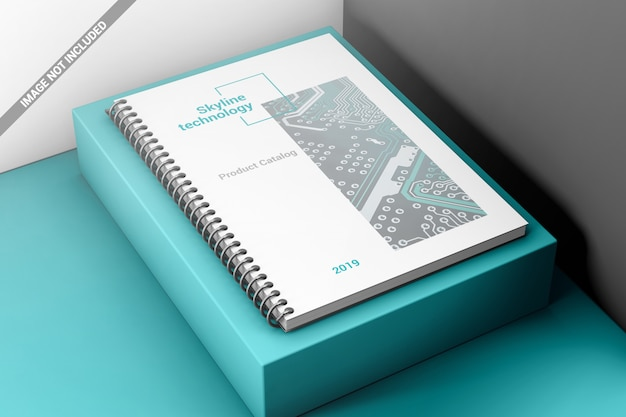 Creativa espiral libro encuadernación maqueta