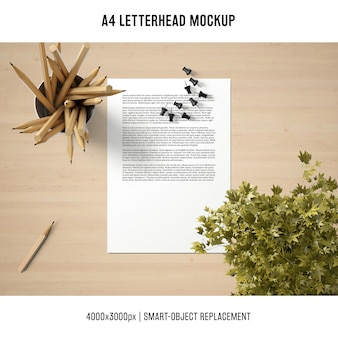 Creative mockup di carta intestata a4
