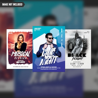 Creative party flyer template 3 in 1 pack