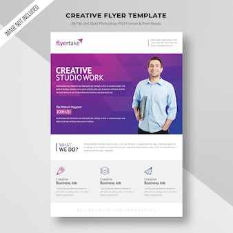 Creative studio werk flyer