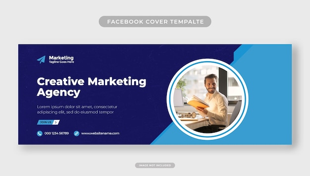 Creativel marketingbureau moderne facebook omslagsjabloon