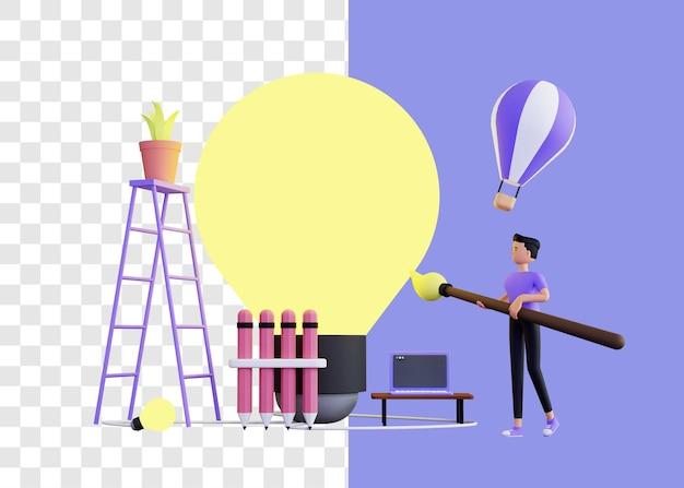 Creativiteit 3d illustratie concept