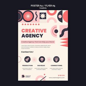 Creativiteit bureau poster sjabloon