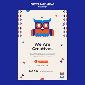 Creativiteit concept folder sjabloon