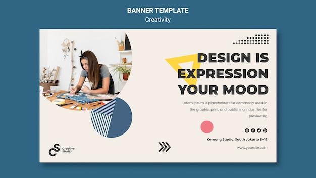 Creativiteit concept horizontale banner