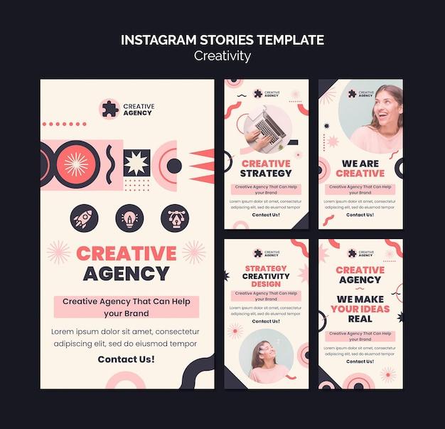 Creativiteit instagram verhalen sjabloon