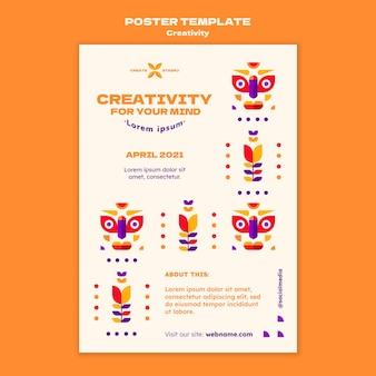 Creativiteit poster sjabloon
