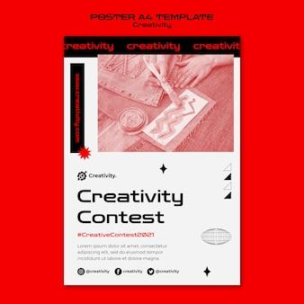 Creativiteit wedstrijd poster sjabloon