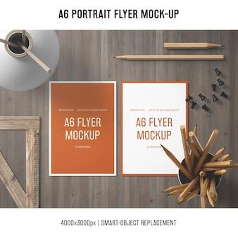 Creativo a6 ritratto flyer mock-up
