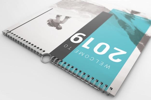 Creativo calendario de pared maqueta