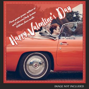 Creativo moderno romantico san valentino instagram post modello e photo mockup