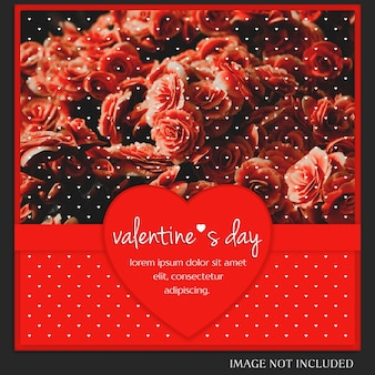 Creativo moderno romantico san valentino instagram post modello e photo mockup
