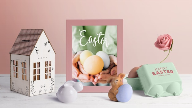 Creatore di scena modificabile easter mockup