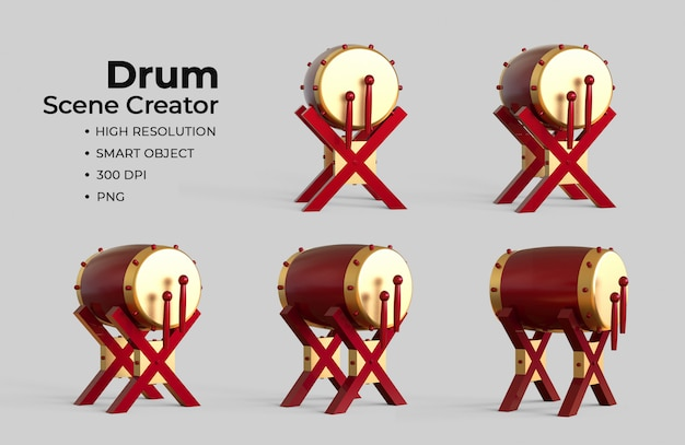 Creatore di scene di tamburi islamici