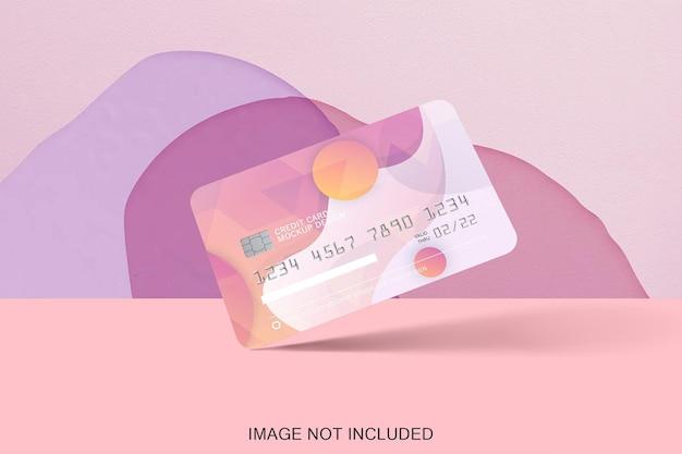 Creditcard mock-up geïsoleerd