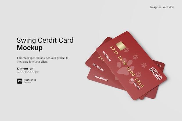 Creditcard mockup design geïsoleerd