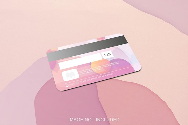 Creditcard mockup geïsoleerd