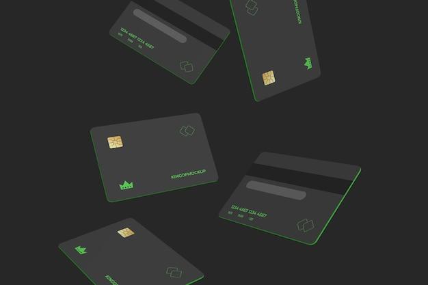 Creditcard mockup-ontwerp in 3d-rendering