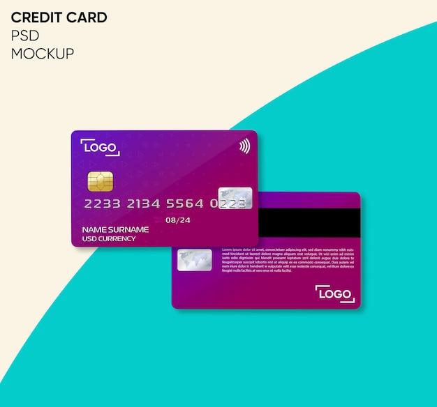 Creditcard mockup-ontwerp