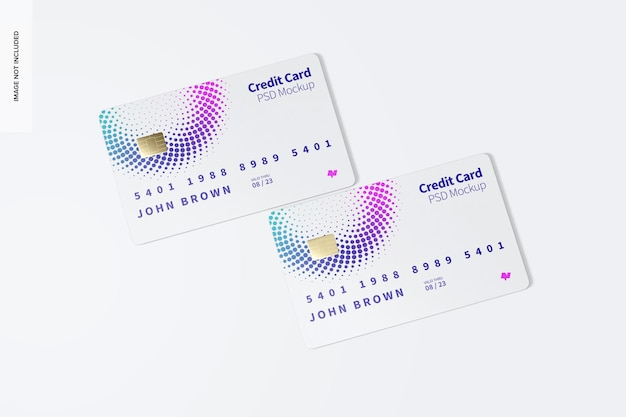 Creditcardmodel, bovenaanzicht