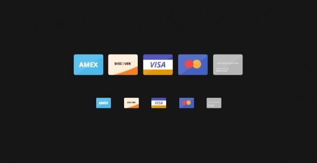 Creditcards trend iconen collectie