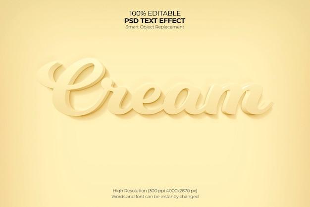 Crème 3d-teksteffect