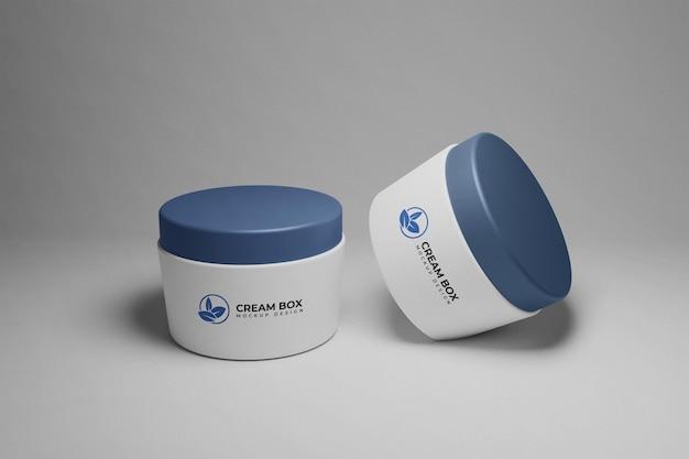 Crème doos verpakkingsmodel