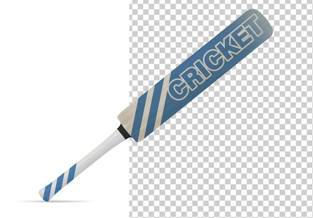 Cricket bat geïsoleerd mock up