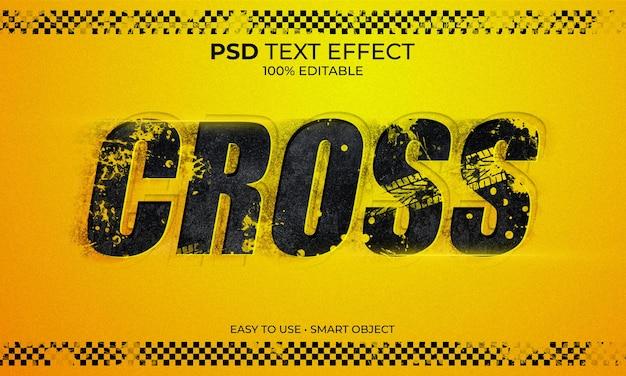 Cross lane tekst effect