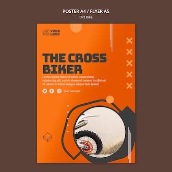 Crossmotor advertentie sjabloon poster