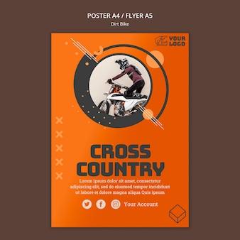 Crossmotor poster sjabloon